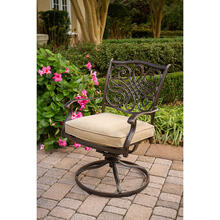 Hanover Set of 2 Traditions Swivel Rockers with Tan Cushions, AAF06001F01-2