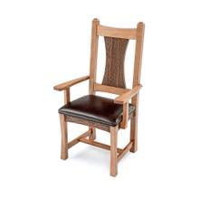 Hampton Heath Arm Chair With Leather Seat
