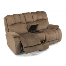 Product Image - Huron Fabric Reclining Loveseat with Console