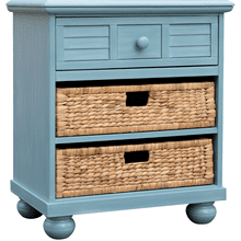 Beachfront Blue Basket Nightstand