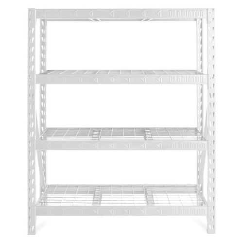 """Gladiator - 60"""" Wide Heavy Duty Rack with Four 18"""" Deep Shelves"""
