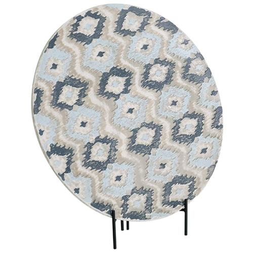Crestview Collections - Ikat Large Handpainted Charger
