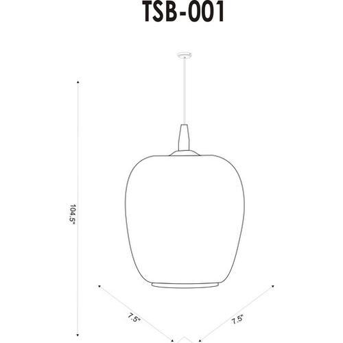 "Tisbury TSB-001 8""H x 7.5""W x 7.5""D"