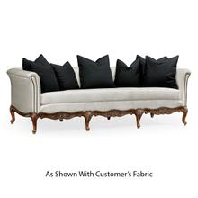 Louis XV French Walnut Sofa, Upholstered in COM