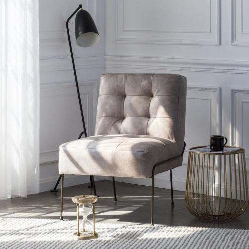 James Fabric Chair, Devore Gray