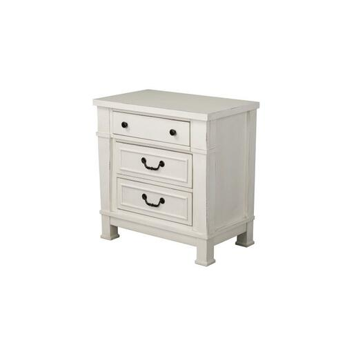 Chesapeake Bay 3-Drawer Nightstand, Vintage White