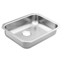 "1800 Series 23-1/2""X18-1/4"" stainless steel 18 gauge single bowl sink"