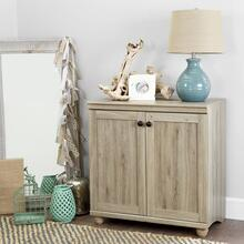 2-Door Storage Cabinet - Rustic Oak