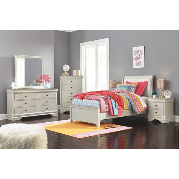 Twin Sleigh Bed With Mattress