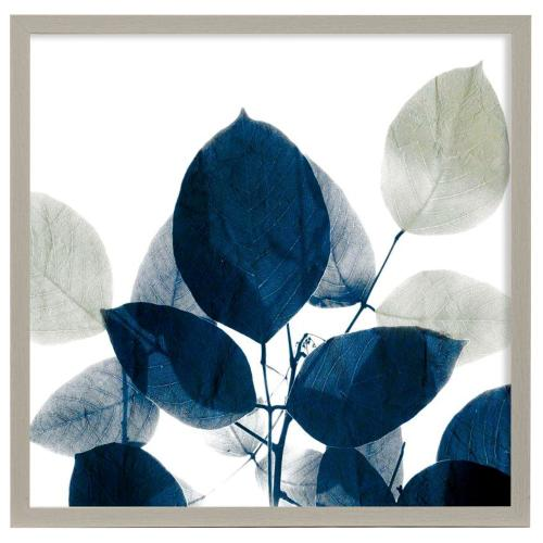 Style Craft - Midnight Leaves I  Made in USA  Artist Print  Faux Wood Frame Under Glass  Attached Hanging Hard