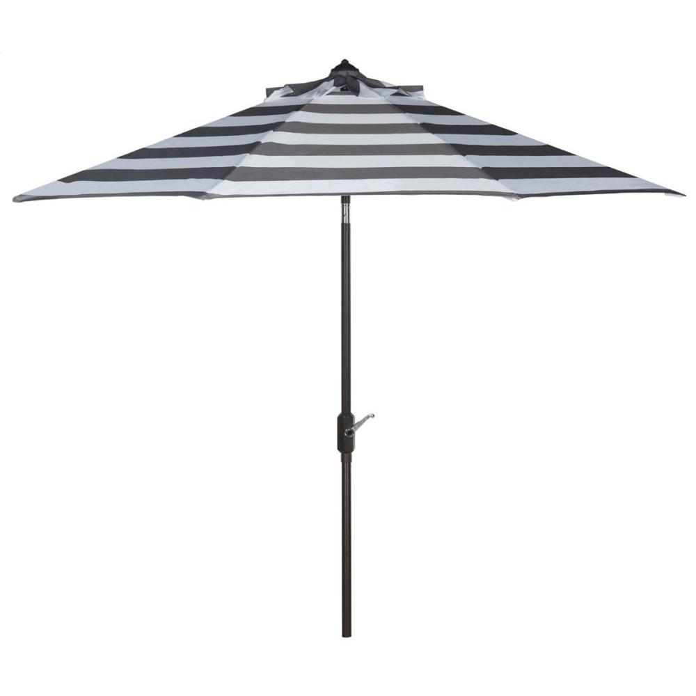 Iris Fashion Line 9ft Umbrella - Grey / White