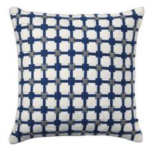 Retired Starboard Pillow, AQUA, 22X22