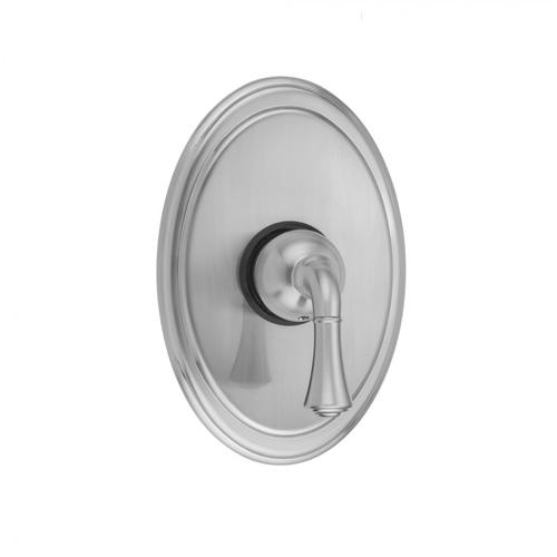 White - Oval Plate With Standard Lever Trim For Pressure Balance Valve (J-PBV)