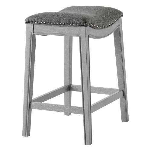 Grover KD Fabric Counter Stool Ash Gray Frame, Lyon Dark Gray