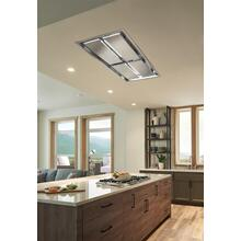 Cirrus Grande 63 inch 600 CFM Brushed Stainless Steel Ceiling Mounted Range Hood with LED Light