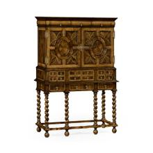See Details - William & Mary Walnut & Oyster TV Cabinet