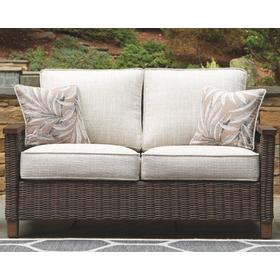 Paradise Trail Loveseat w/Cushion Medium Brown