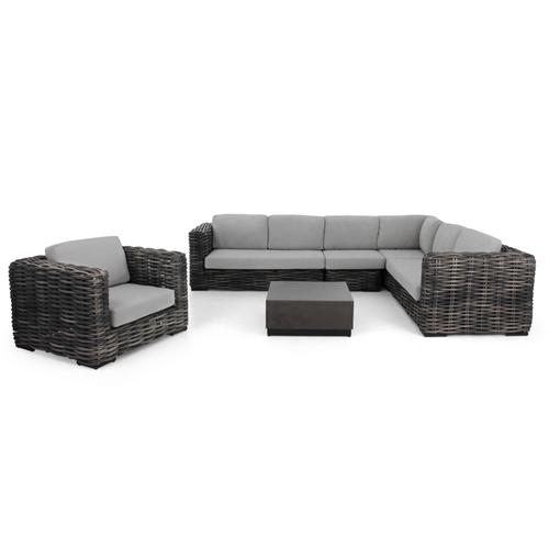 Alfresco Home - ELEMENTS XL Sectional Right Arm Love Seat w/ cushions