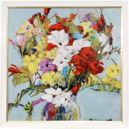 Style Craft - NATURAL BOUNTY  34in w X 34in ht  Textured Framed Print  Made in USA