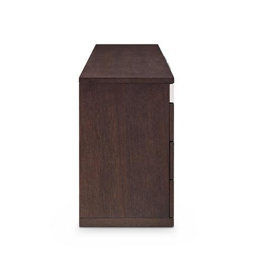 Modrest Torino Modern Brown Oak & Grey Dresser