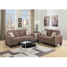 Fabiano 2pc Loveseat & Sofa Set, Lt-coffee