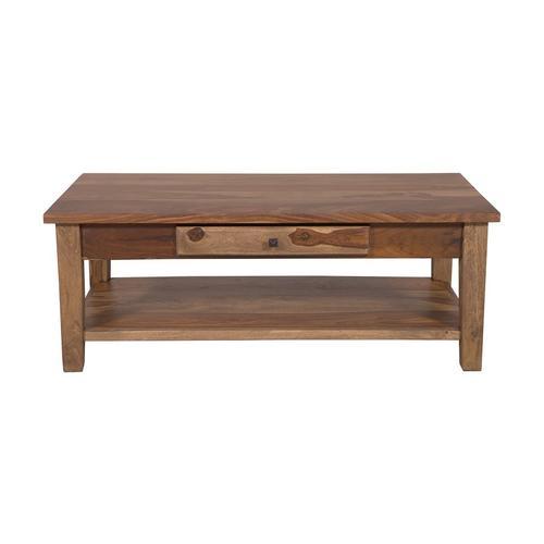 Porter International Designs - Tahoe Harvest Coffee Table with Drawer, SBA-9011H