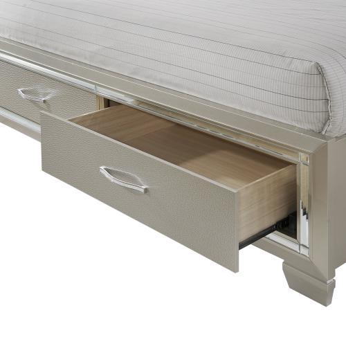 Platinum Queen Platform Storage Bed