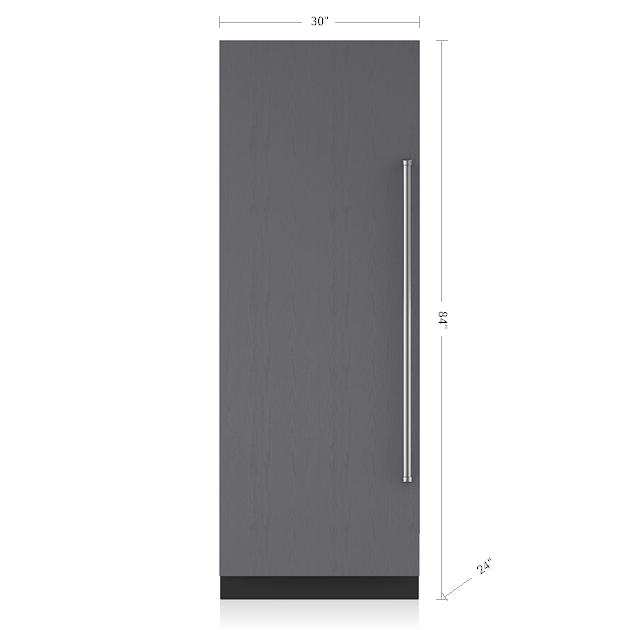 "Subzero30"" Designer Column Refrigerator - Panel Ready"