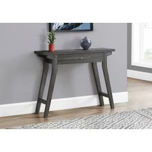 """ACCENT TABLE - 42""""L / GREY WITH A STORAGE DRAWER"""