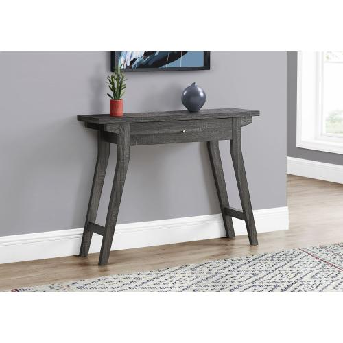 """Gallery - ACCENT TABLE - 42""""L / GREY WITH A STORAGE DRAWER"""