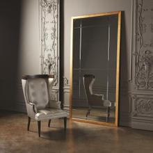 Beaumont Floor Mirror-Gold Leaf
