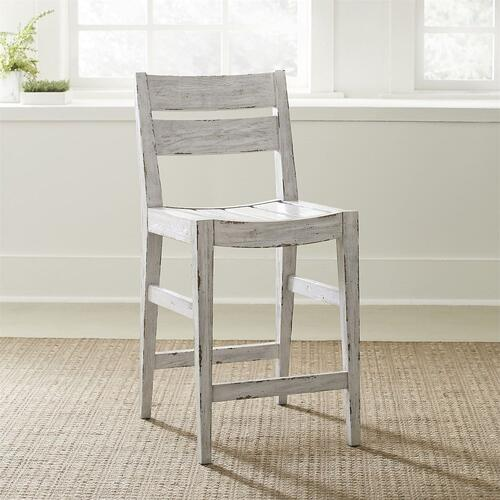 Liberty Furniture Industries - Slat Back Counter Height Chair (RTA) - White