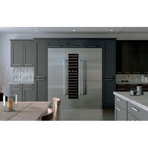 "!!!SAVE!!! FLOOR MODEL SUBZERO - STAINLESS STEEL DOOR (RIGHT HINGE) WITH TUBULAR HANDLES - 30"" Designer Column Refrigerator with Internal Dispenser - Panel Ready / 1 YEAR WARRANTY / BONUS STAINLESS STEEL FREESTANDING KIT"