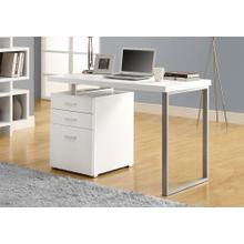 """See Details - COMPUTER DESK - 48""""L / WHITE LEFT OR RIGHT FACING"""