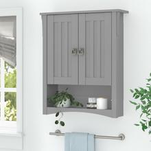 Salinas Bathroom Bathroom Wall Cabinet with Doors - Cape Cod Gray