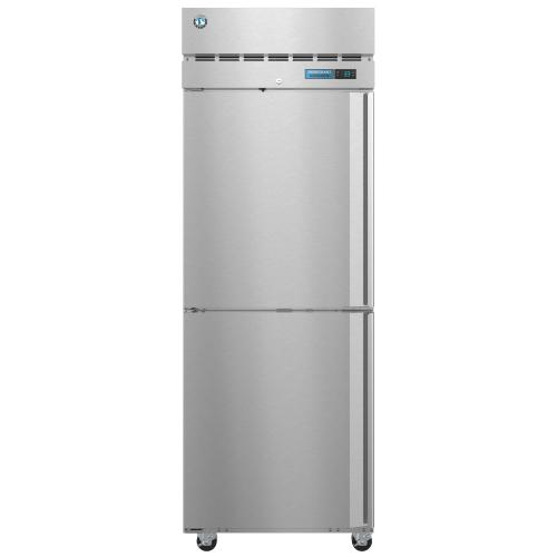 R1A-HSL, Refrigerator, Single Section Upright, Half Stainless Doors with Lock