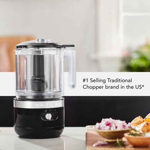 KitchenAid - Cordless 5 Cup Food Chopper - Onyx Black