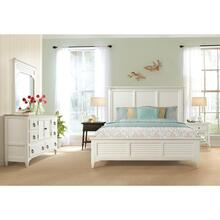 Myra - King/california King Louver Footboard - Paperwhite Finish