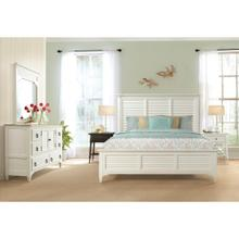 Myra - California King Bed Rails - Paperwhite Finish