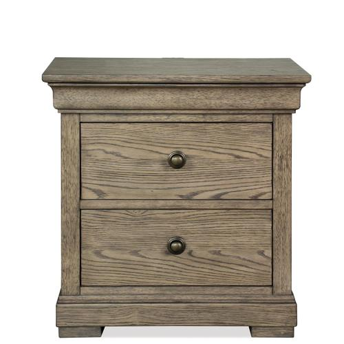 Louis Farmhouse - Three Drawer Nightstand - Antique Oak Finish