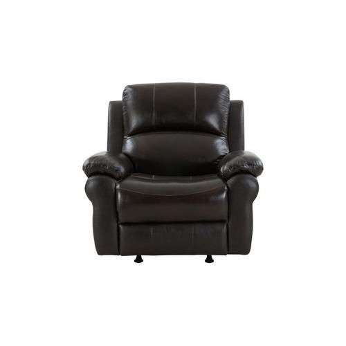 Porter International Designs - Marco Black Leather Reclining Sofa, Loveseat & Chair, ML7641