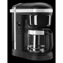 12 Cup Drip Coffee Maker with Spiral Showerhead - Black Matte