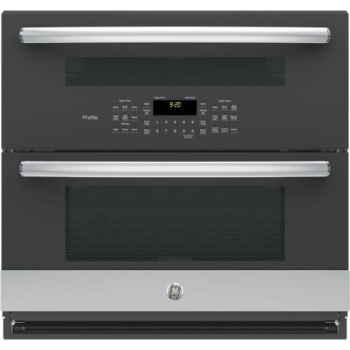 "GE Profile 30"" True European Convection Double Wall Oven Stainless Steel PT9200SLSS"