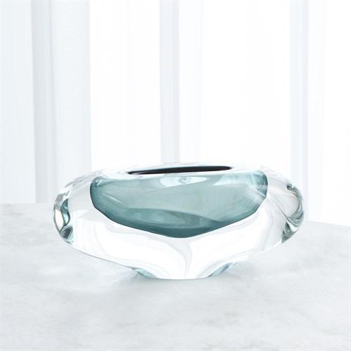 Abstract Bean Vase-Azure-Sm