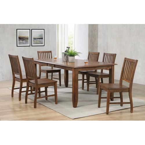 Extendable Table Dining Set w/Sideboard - Amish (7 Piece)