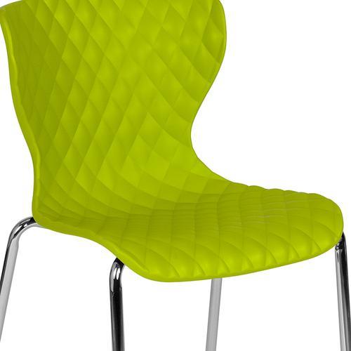 Flash Furniture - Lowell Contemporary Design Citrus Green Plastic Stack Chair