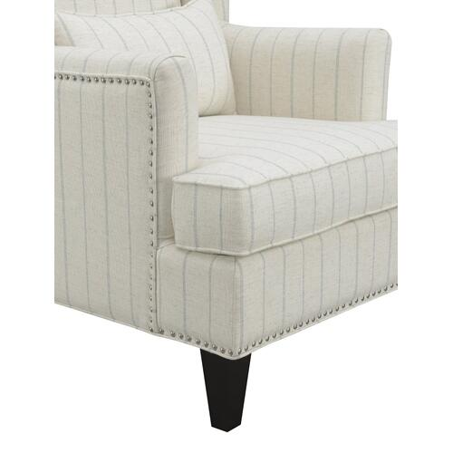Isabella Accent Chair Blue Stripe