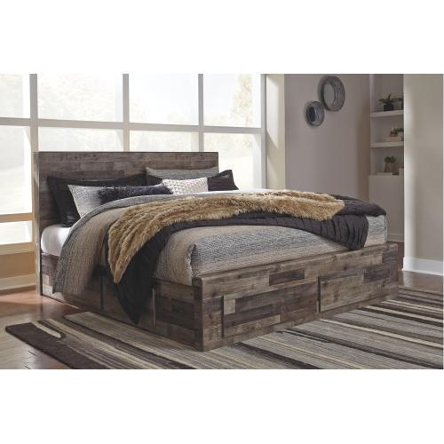 Benchcraft - Derekson King Panel Bed With 6 Storage Drawers