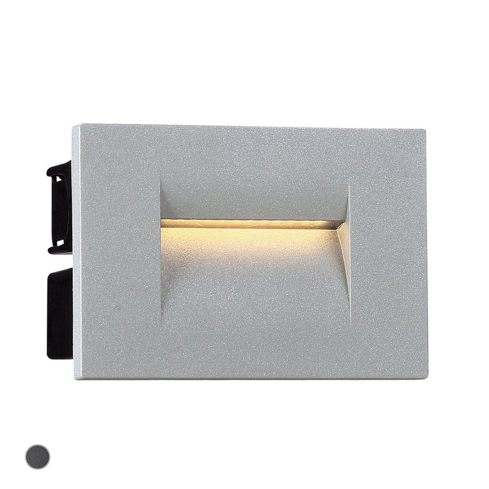 See Details - 3.6W LED OUTDOOR IN-WALL - Marine Grey