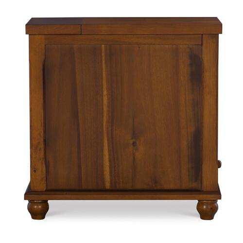 2 Open Cubbies and 1 Small Drawer End Table, Brown